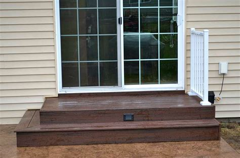 Patio Door Steps Composite Landing And Stairs Search Patio S And Steps Pinterest Covered Patios