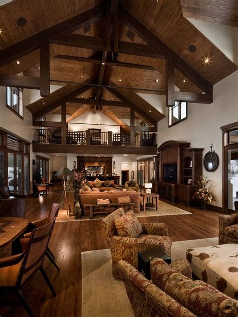 log cabin living room pictures to pin on pinterest pinsdaddy barn style homes lodges and traditional on pinterest