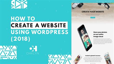 Wordpress Tutorial To Create A Website | how to create a website using wordpress 2018 step by