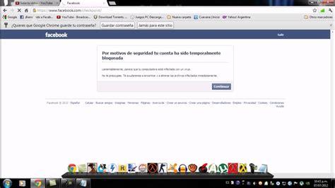 fb video mi cuenta de facebook esta temporalmente bloqueada 191 que
