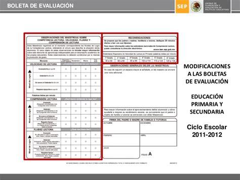 formato de boleta para secundaria ciclo 2016 2017 boleta de evaluaci 243 n 2011 2012