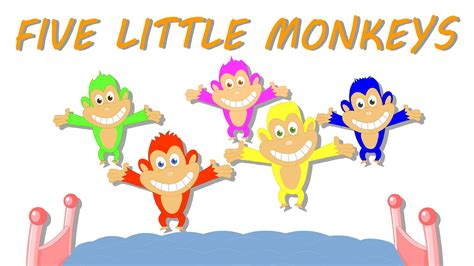 five little monkeys jumping on the bed youtube five little monkeys youtube