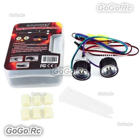 Gt Power 8 Led System For Helicopter Airplane gt power high power headlight system for rc model aircraft car boat gt019 ebay