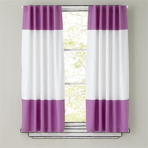 purple color curtains 84 quot color edge curtain panel purple the land of nod