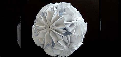 Origami Cherry - how to origami a cherry blossom ku kusudama 171 origami
