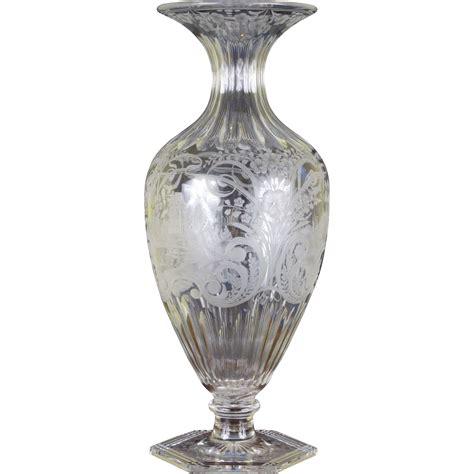 libbey museum quality large vase from gildedagedining on