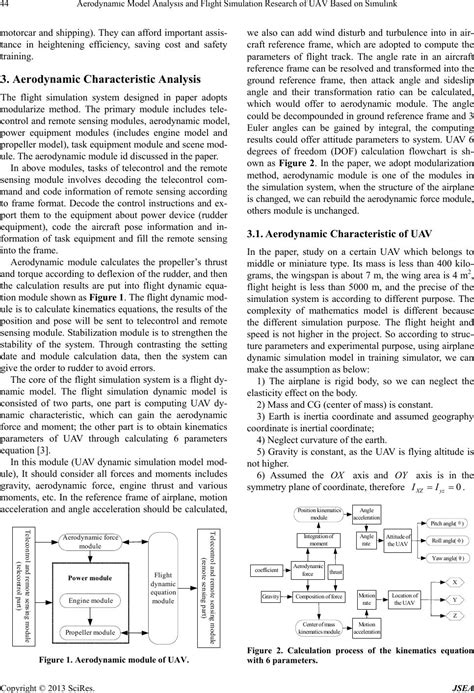 uav research paper aerodynamic model analysis and flight simulation research