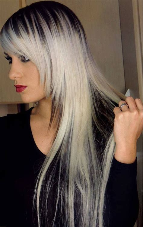 hair styles for gray roots grey ombre highlights new style for 2016 2017