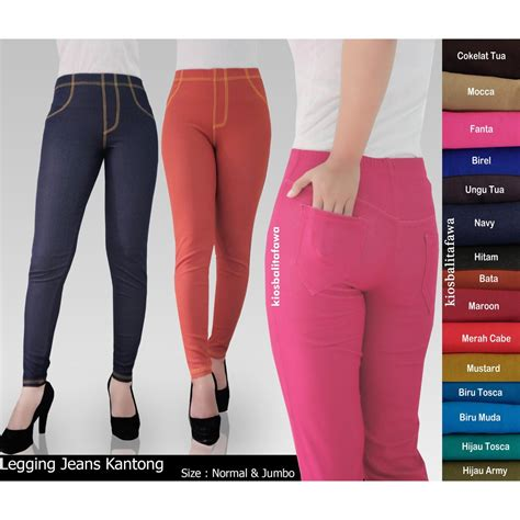 Legging Tebal Adem legging kantong uk jumbo fit to celana dewasa