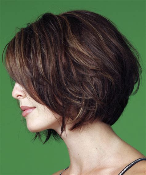 layered bob side view medium straight casual hairstyle
