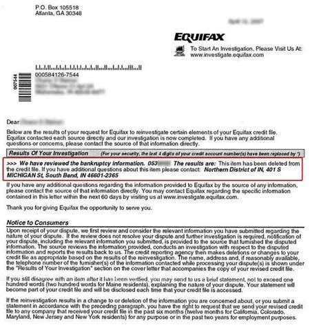 Equifax Dispute Letter Address Credit Dispute Repair Help Negative Credit Items Removed