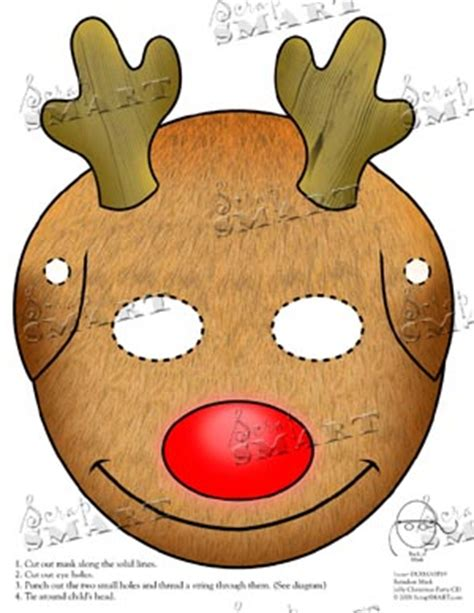 printable reindeer mask best photos of rudolph mask template rudolph reindeer
