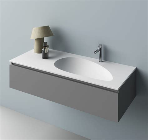 lavabo corian countertop washbasin oval corian 174 original design