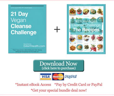 21 Day Detox Challenge Recipes by The 21 Day Vegan Cleanse Challenge