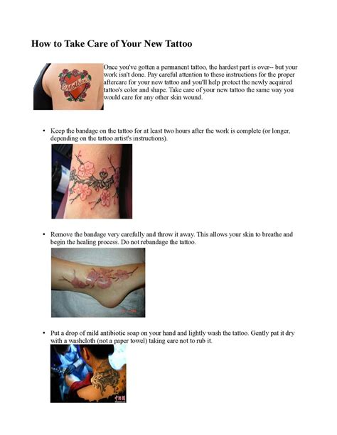 best way to take care of a tattoo what is the best way to take care of a new