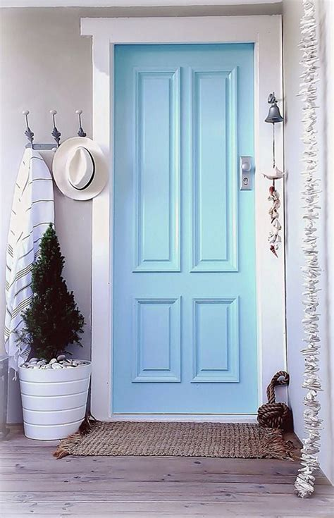 awesome Front Door Colors For Blue House #1: blue-coastal-front-doors.jpg