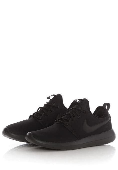 black nike shoes nike roshe two black black shoes impericon