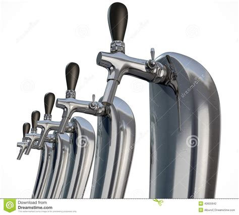 Beer Tap Row Isolated Stock Illustration Image 40605842 Draught Taps