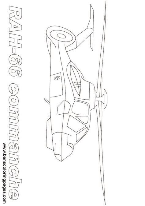 comanche helicopter coloring page rah 66 coloring pages