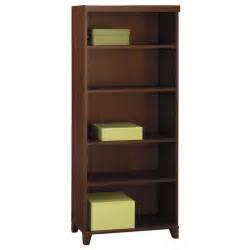 bush bookshelves bush tuxedo 5 shelf bookcase in hansen cherry wl21465