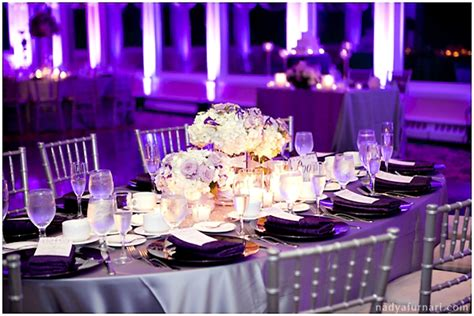 purple silver and white wedding table decorations jar of ideas helen juan purple silver wedding at