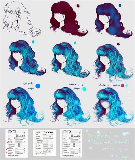 hair color tutorial paint tool sai 25 best ideas about paint tool sai on paint