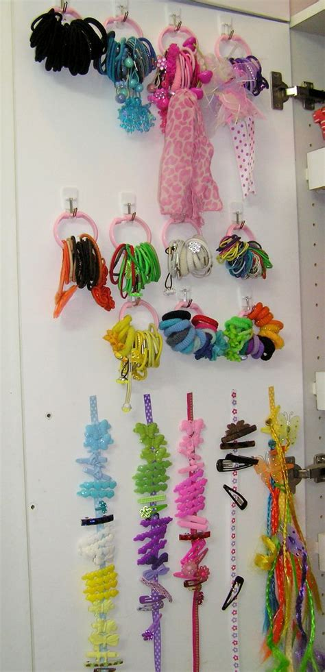 dollar tree curtains finally organized the barrettes hairbands items used 1