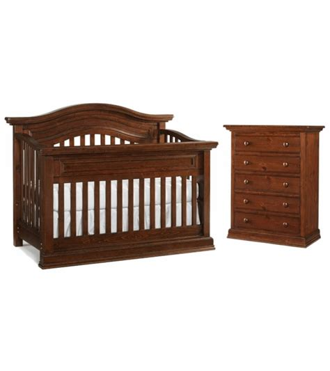 Bonavita Sheffield Lifestyle 2 Piece Nursery Set In Dark Bonavita Convertible Cribs
