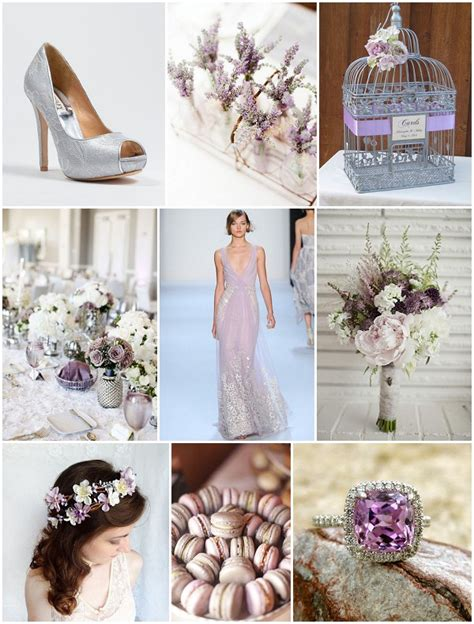 lavender and silver wedding ideas