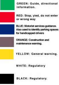 the color of a motorist service sign is traffic signs shopping regulatory signs