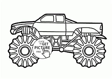 monster truck video for kids big monster truck coloring page for kids transportation