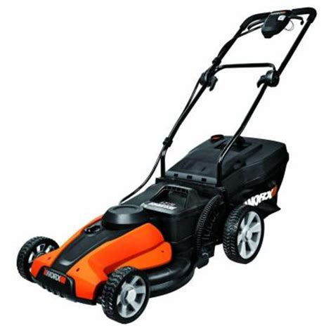 worx 17 in 24 volt walk cordless electric push