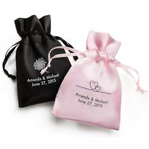 personalized favor bags personalized satin favor bags