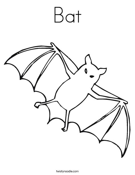 bat coloring pages bat coloring page twisty noodle