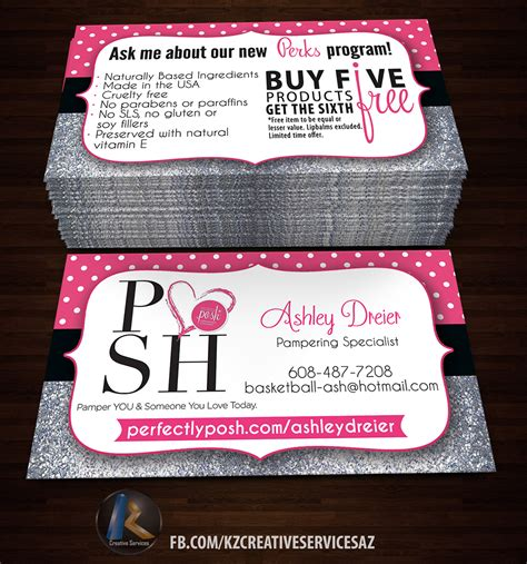 Perfectly Posh Business Card Template Free by Perfectly Posh Business Cards 23 183 Kz Creative Services