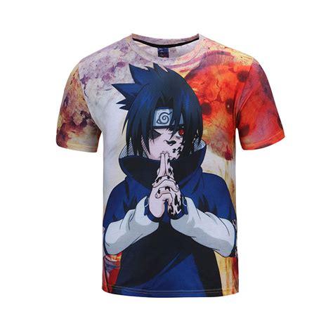 Jaket Harajuku Uchiha Sasuke Biru Anime uchiha sasuke t shirt