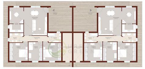 casa bifamiliare casa in legno bifamiliare urb33 green
