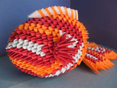 3d Origami Koi Fish - 3d origami koi fish by chiidonuts on deviantart