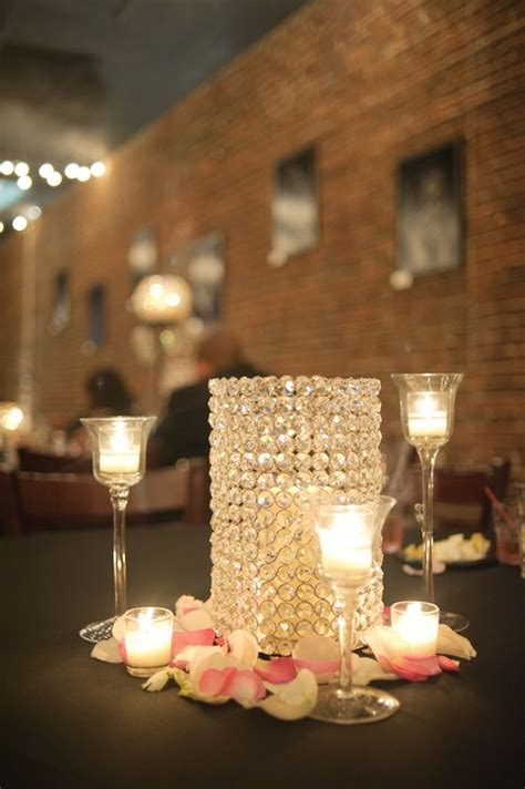 crystal candle holder centerpiece weddings pinterest