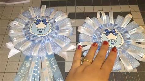 How To Make Baby Shower Pins by Blue Baby Shower Corsage Diy Do It Yourself