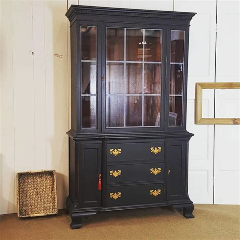 black china cabinet black china cabinet slightly distressed by uniquebyruth from unique by ruth attic