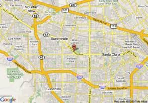 where is sunnyvale california on a map map of corporate inn sunnyvale sunnyvale