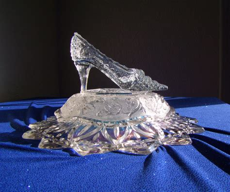glass slipper centerpiece cinderella glass slipper tale princess russian