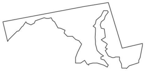 geo map usa maryland
