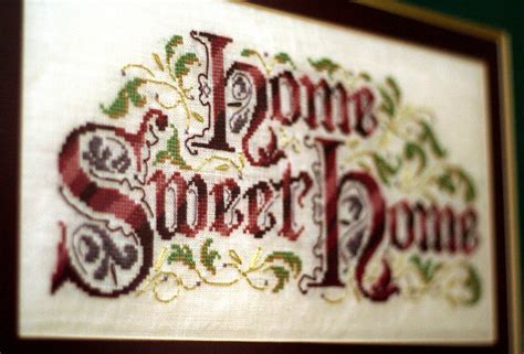 Home Patterns home sweet home cross stitch sampler
