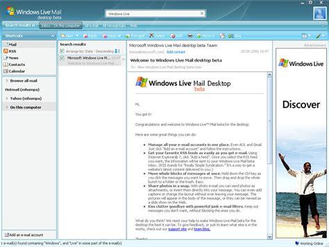 wallpaper for windows live mail windows live mail desktop 2011 adware en download