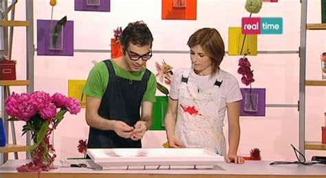 paint your tavolo paint your quadro floreale