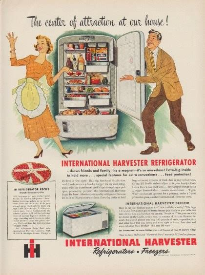 """1949 International Harvester Ad """"The center of attraction"""
