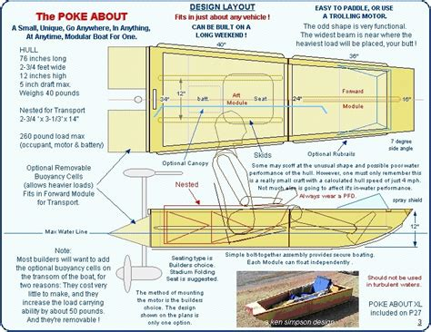 folding boat plans free plans for boat