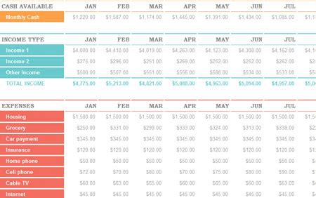 excel family budget template budget familial excel images